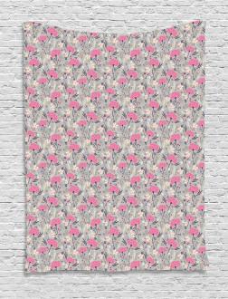 Repeating Dandelions Tapestry