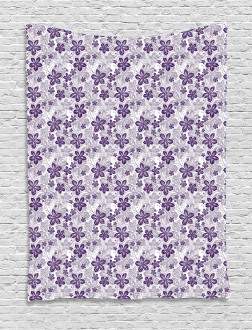 Stylized Petals Curves Tapestry