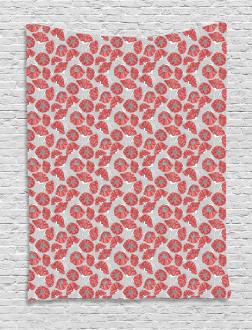 Poppy Petals Polka Dots Tapestry