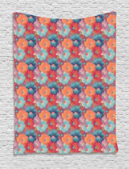 Overlapped Flower Petals Tapestry