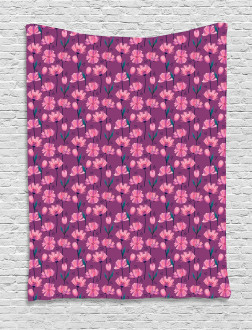 Abstract Poppy Petals Tapestry