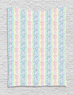 Color Transition Dots Tapestry