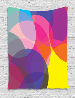 Colorful Circles Tapestry