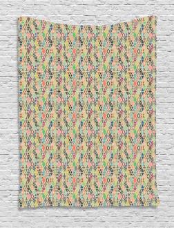 Patchwork Art Rhombus Tapestry