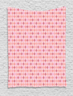 Pink Diamond Shape Tapestry