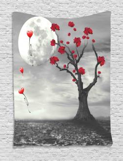 Romantic Full Moon Night Tapestry
