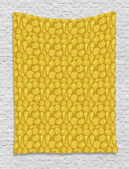 Stylized Ornamentals Tapestry