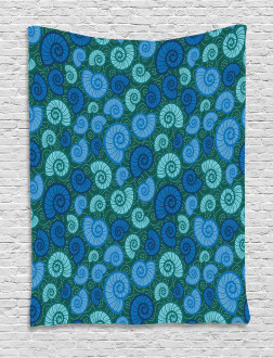 Periwinkle and Vortex Tapestry