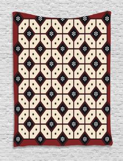 Javanese Batik Pattern Tapestry