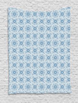 Dutch Floral Tile Tapestry