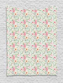 Wildflower Botanic Theme Tapestry