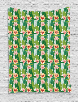 Exotic Hawaiian Botanic Tapestry