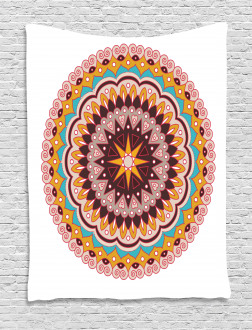 Ethnic Floral Motif Tapestry