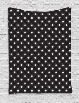Grungy Stars Rays Theme Tapestry