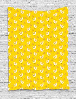 Dots Chicken Haystack Tapestry