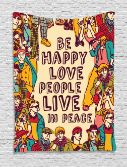 Love Peace Motivational Tapestry