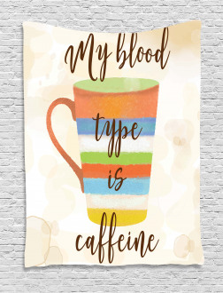 Caffeine Quote Retro Mug Tapestry
