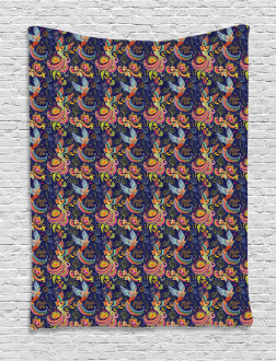 Mythical Rising Phoenix Bird Tapestry