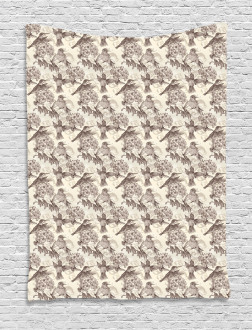 Ruby-Throated Hummingbird Tapestry