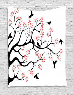 Mockingbird on Plane Tree Tapestry
