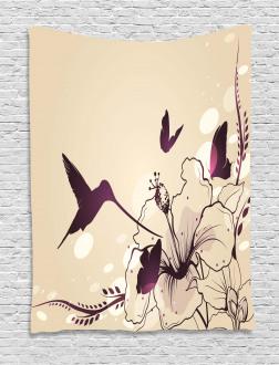 Flappy Tiny Hummingbirds Tapestry