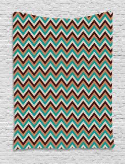 Retro Color Zigzag Line Tapestry
