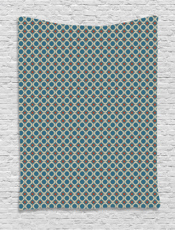 Round Shapes Squares Tapestry