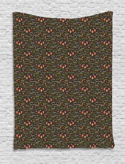 Mistletoe Pine Branch Tapestry