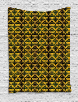 Wave Shape Leaves Tapestry