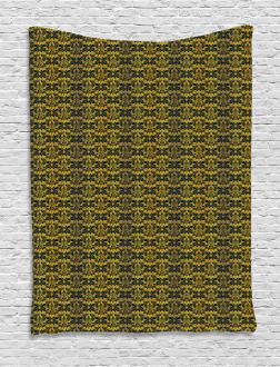 Wavy Floral Leaf Tapestry