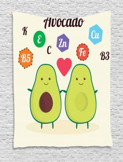 Funny Food Vitamins Tapestry