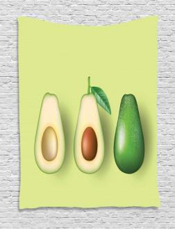 Realistic Half Avocado Tapestry