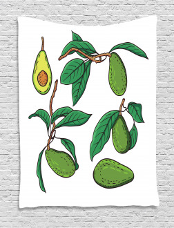Exotic Fruits on Branch Tapestry