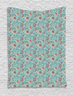 Woodland Floral Design Tapestry
