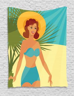 1950s Style Bikini Tapestry