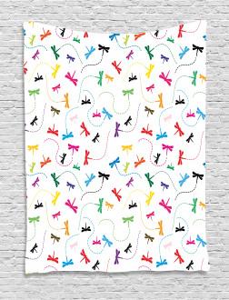 Spring Wildlife Motif Tapestry