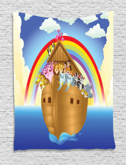 Clouds Animals Ship Tapestry