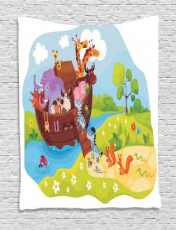 Animals Boarding Ark Tapestry