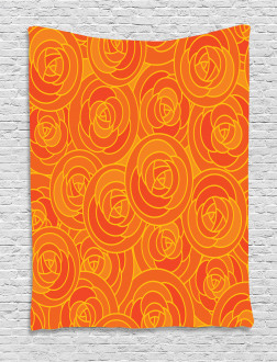 Outline Roses Autumn Tapestry