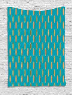 Wave Board Summer Pattern Tapestry