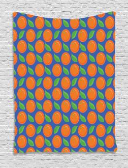 Citrus Fruit Green Leaf Tapestry