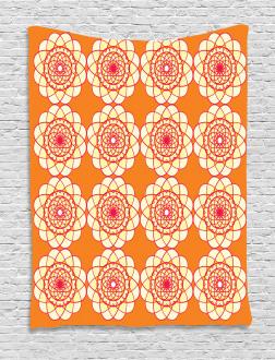 Retro Spirographic Tapestry