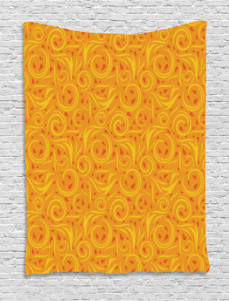 Swirling Autumn Leaves Tapestry