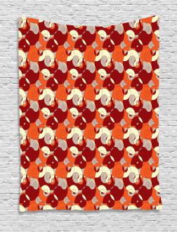 Retro Spirals Twirls Tapestry