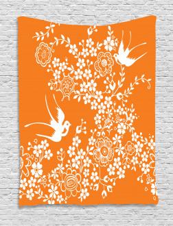 Flowers Birds Tapestry