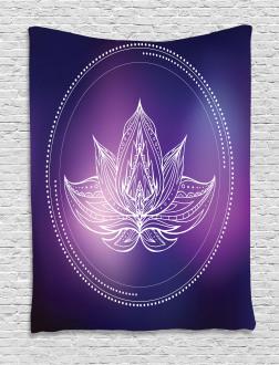 Lotus Flower Space Tapestry