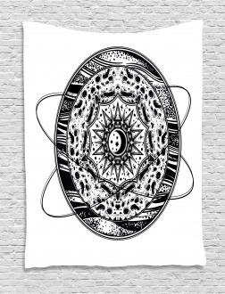 Orbital Hoops Tapestry