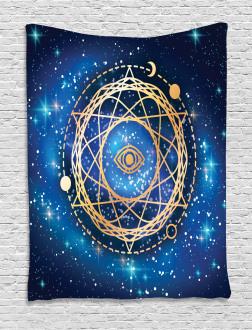 Geometric Emblem Tapestry