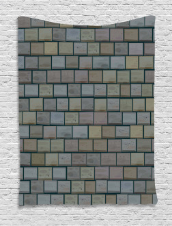 Stained Stone Brick Tapestry