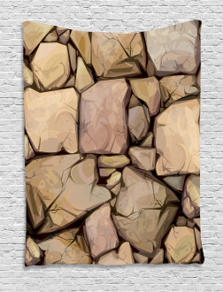 Cottage Stone Wall Tapestry